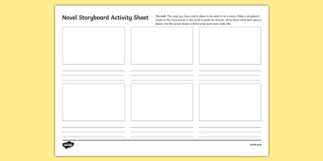 Novel Storyboard Activity Sheet-Irish, worksheet