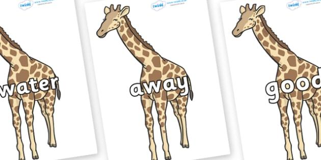 Next 200 Common Words on Giraffe - Next 200 Common Words on  - DfES Letters and Sounds, Letters and Sounds, Letters and sounds words, Common words, 200 common words