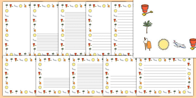 My School Holiday Page Borders - my school holiday page borders, my holiday, my school holiday, page borders, my holiday page borders