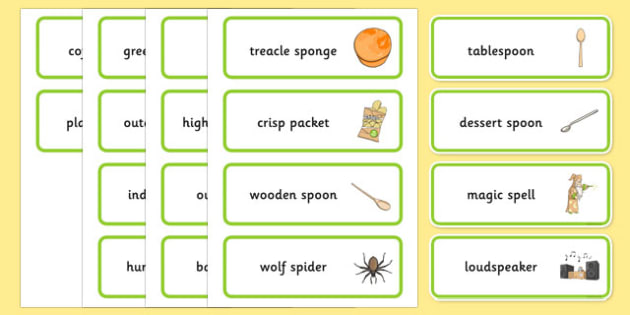 Word Medial SP Word Cards Three Syllable - speech sounds, phonology, articulation, speech therapy, cluster reduction
