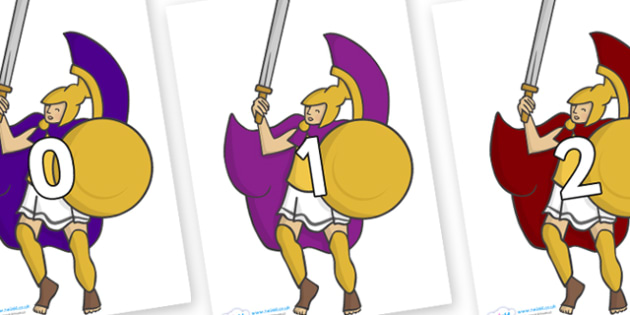 Numbers 0-100 on Greek Soldiers - 0-100, foundation stage numeracy, Number recognition, Number flashcards, counting, number frieze, Display numbers, number posters