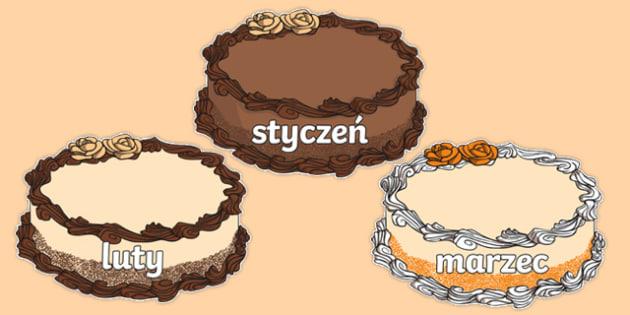 Miesiące na tortach po polsku