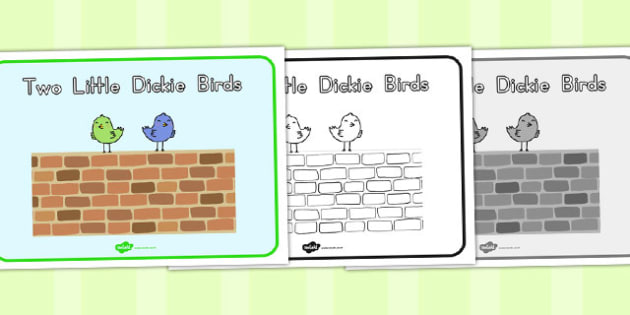 Two Little Dickie Birds Story Sequencing - australia, story, bird
