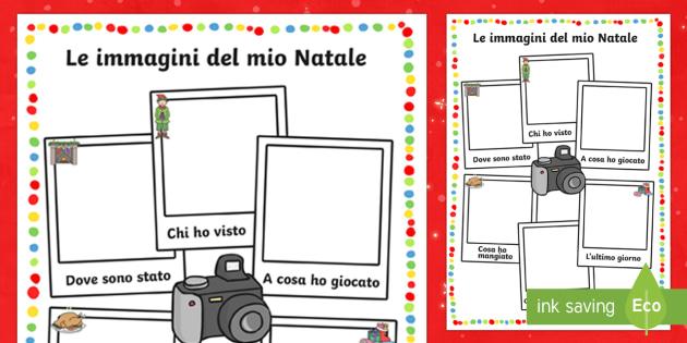 Le Immagini del mio Natale cornici per scrivere - Natale, natalizio, esercizio, ritono vacanze, attivita\', buone feste, feste, festivo