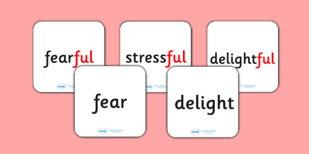 Suffix Matching Cards ful - suffixes, suffix, suffix matching cards, prefixes and suffixes, suffix ful, suffix game, suffix activity, words ending in ful