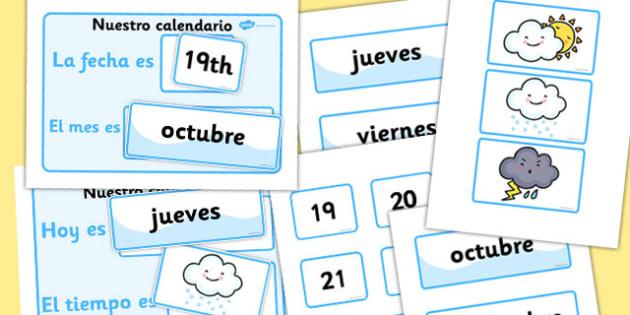Our Daily Calendar Spanish Version - spanish, calendar, daily