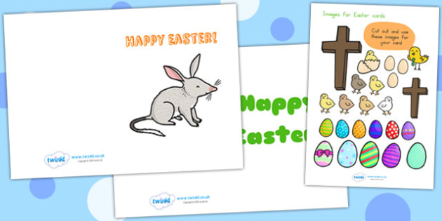 Easter Card Templates A5 - easter, easter card, greeting card