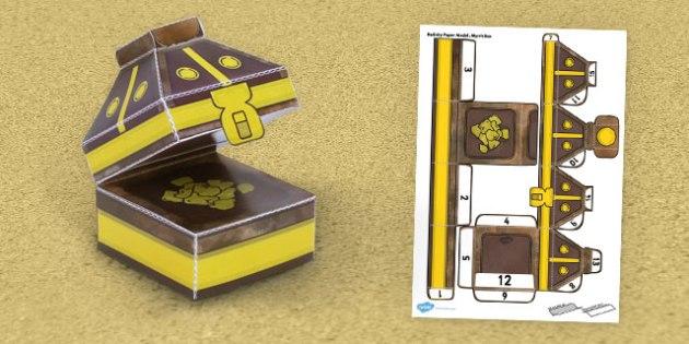 Nativity Paper Model Myrrh Box - nativity, paper, model, myrrh