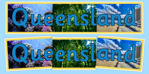 Queensland Display Banner - States and Territories, QLD, Queensland, display