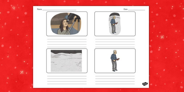 The Man on the Moon Storyboard - man on the moon, storyboard, space, christmas