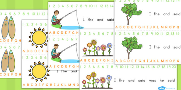 Spring Combined Number Alphabet Strip - seasons, weather, strips
