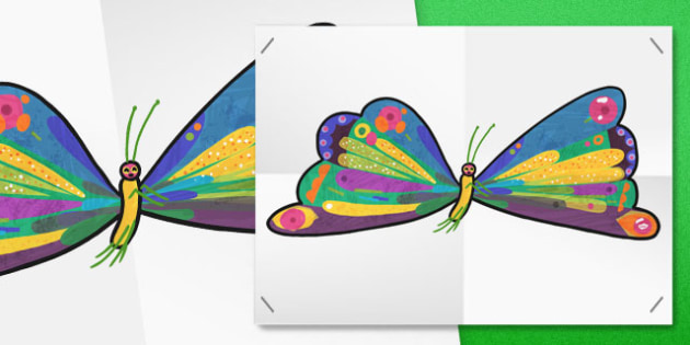 Large A2 Butterfly Cut-Out to Support Teaching on The Very Hungry Caterpillar - display, a2