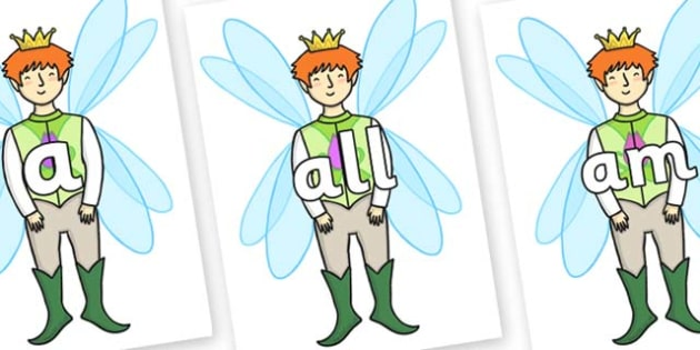 Foundation Stage 2 Keywords on Fairy Prince - FS2, CLL, keywords, Communication language and literacy,  Display, Key words, high frequency words, foundation stage literacy, DfES Letters and Sounds, Letters and Sounds, spelling