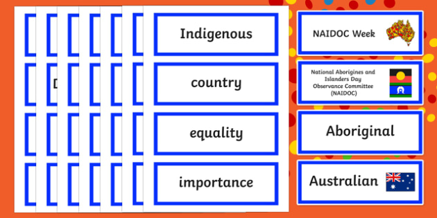 NAIDOC Week Word Cards
