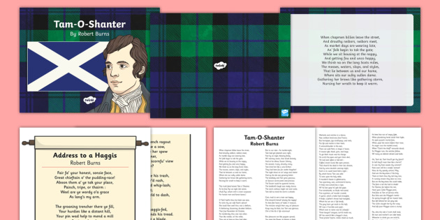 Robert Burns Poems Resource Pack - Reading Plan, Stimulation, Ideas, Support, English, Activity Co-ordinators, Elderly Care, Care Homes