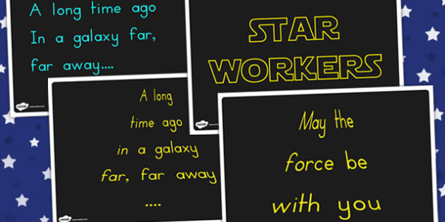 Star Wars Quote Display Posters - Poster, Displays, Visuals