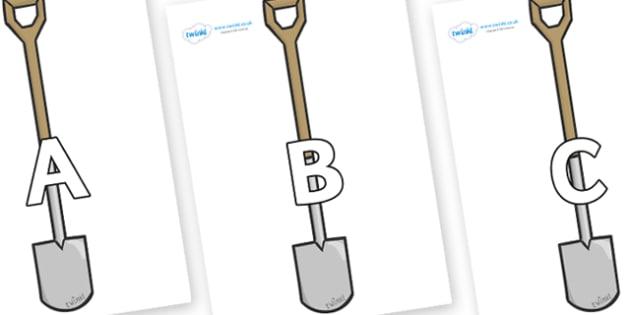 A-Z Alphabet on Spades - A-Z, A4, display, Alphabet frieze, Display letters, Letter posters, A-Z letters, Alphabet flashcards