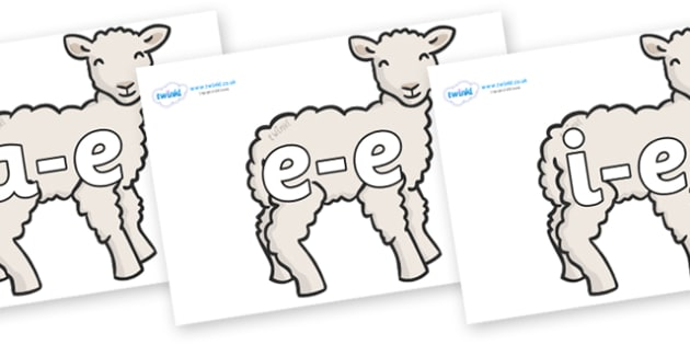 Modifying E Letters on Lambs - Modifying E, letters, modify, Phase 5, Phase five, alternative spellings for phonemes, DfES letters and Sounds