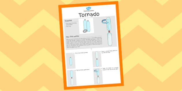 Tornado Experiment Instructions Sheet - crafts, instruct, tornados