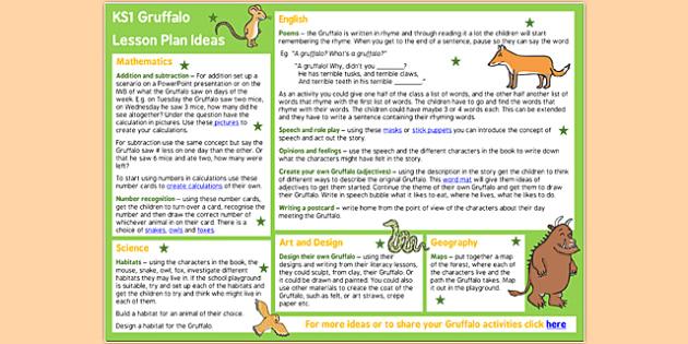 The Gruffalo Lesson Plan Ideas KS2 - the gruffalo, the gruffalo lesson plan, the gruffalo lesson ideas, the gruffalo lesson plan ideas, MPT, lesson plan