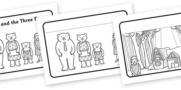 Goldilocks and the Three Bears Sequencing (Speech Bubbles) - Goldilocks, sequencing, traditional tales, tale, fairy tale, three bears, porridge, cottage, beds