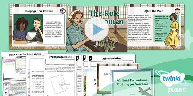 History: World War II: The Role of Women UKS2 Lesson Pack 4