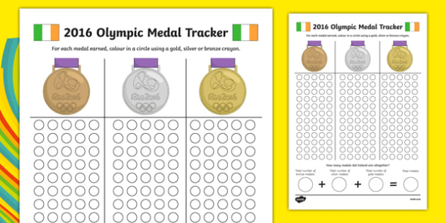 Ireland Olympic Medal Count and Add Activity Sheet-Irish, worksheet
