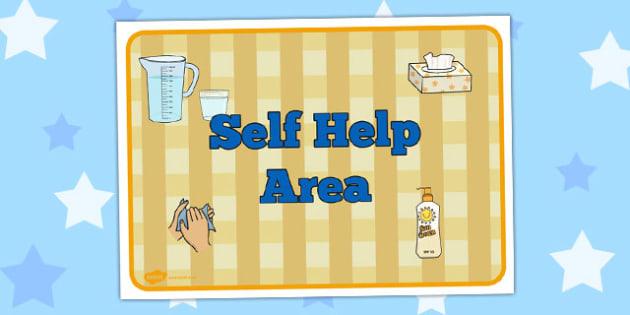 Self Help Area Sign - self-help, area, sign, self, help, display