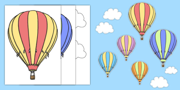Hot Air Balloon Themed Wall Decals - transport, wall decals, display, images, decals,trasnport,trasport, hot air balloons