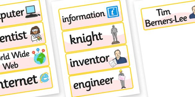 Tim Berners Lee Word Cards - tim berners lee, word cards, keyword