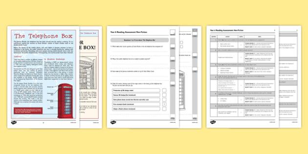 Year 6 Reading Assessment Non-Fiction Term 3 - test, sats, summative, diagnostic, practice, sample