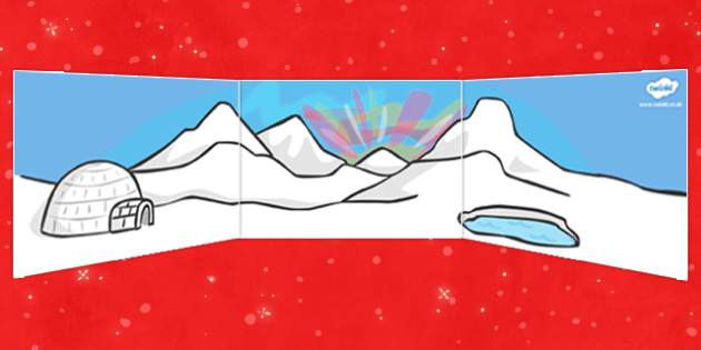 Self Registration Background (North Pole) - Self registration, background, desert, North Pole, polar, display, editable, label, topic, self registration