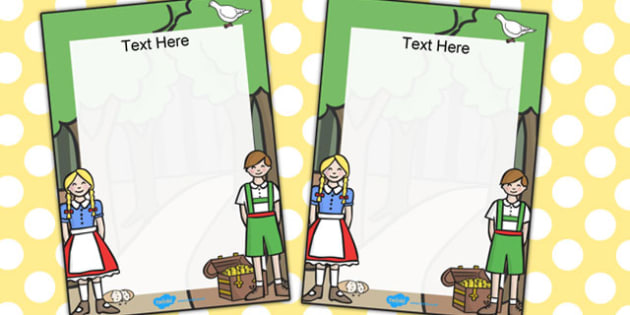 Hansel and Gretel Editable notes from teacher - notes, hansel
