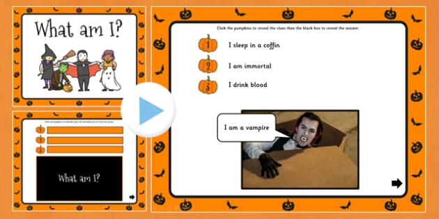 Halloween What Am I PowerPoint - halloween, powerpoint, guess