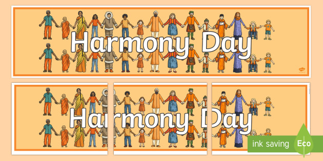 Harmony Day Display Banner - Harmony Day, cultural, diversity, banner