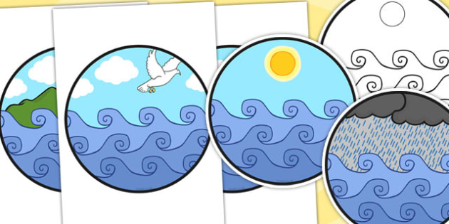 Noah's Ark Role Play Cut Out Windows - Noah's ark, role play, RE