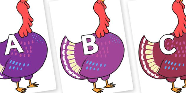 A-Z Alphabet on Hullabaloo Turkey A-Z Alphabet on Hullabaloo Turkey - A-Z, A4, display, Alphabet frieze, Display letters, Letter posters, A-Z letters, Alphabet flashcards