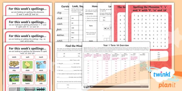 PlanIt Y1 Term 1A Bumper Spelling Pack