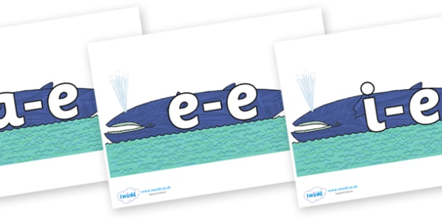 Modifying E Letters on Whale to Support Teaching on Sharing a Shell - Modifying E, letters, modify, Phase 5, Phase five, alternative spellings for phonemes, DfES letters and Sounds