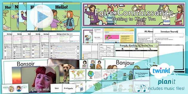 French: Getting to Know You Year 3 Unit Pack