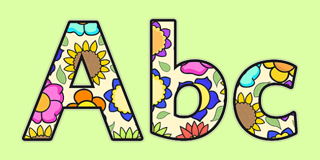 Flower A4 Display Lettering - flower, A4, display letters, letter