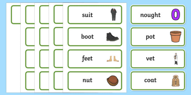 Final T Sound Word Cards - final, t, sound, cards, word cards
