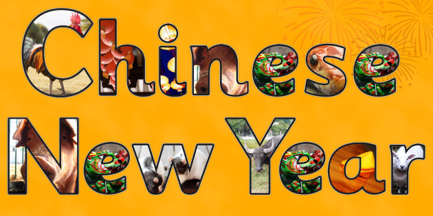 Chinese New Year Display Lettering - chinese new year, letters