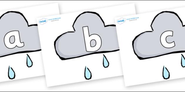 Phoneme Set on Weather Symbols (Rain) - Phoneme set, phonemes, phoneme, Letters and Sounds, DfES, display, Phase 1, Phase 2, Phase 3, Phase 5, Foundation, Literacy