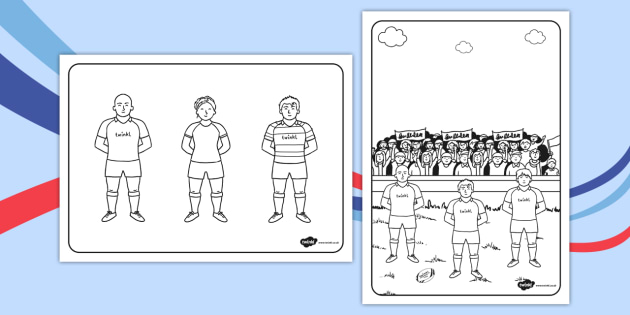 Rugby Colouring Sheets - rugby, colouring, sheets, colour, sports