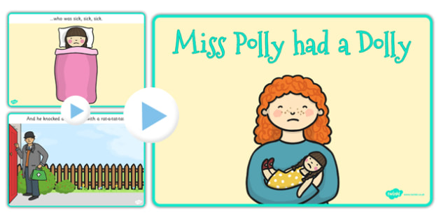 Miss Polly Had a Dolly PowerPoint - miss polly had a dolly, nursery rhymes,  nursery rhyme powerpoint, miss polly had a dolly nursery rhyme powerpoint