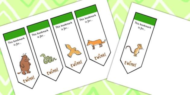 The Gruffalo Editable Bookmarks - the gruffalo, editable, editable bookmark, bookmarks, awards, bookmark awards, reading, reward bookmarks, themed bookmarks