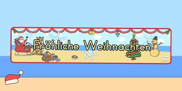 Australia Christmas Display Banner German - christmas, banner, german, xmas