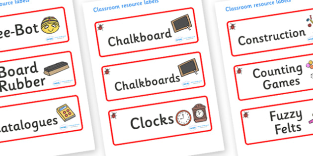 Ladybug Themed Editable Additional Classroom Resource Labels - Themed Label template, Resource Label, Name Labels, Editable Labels, Drawer Labels, KS1 Labels, Foundation Labels, Foundation Stage Labels, Teaching Labels, Resource Labels, Tray Labels,