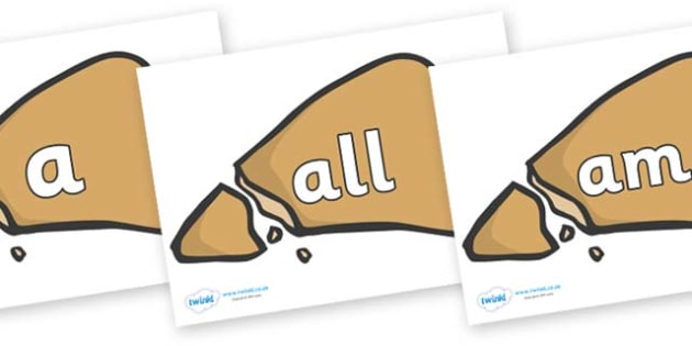 Foundation Stage 2 Keywords on Egyptian Flatbread - FS2, CLL, keywords, Communication language and literacy,  Display, Key words, high frequency words, foundation stage literacy, DfES Letters and Sounds, Letters and Sounds, spelling